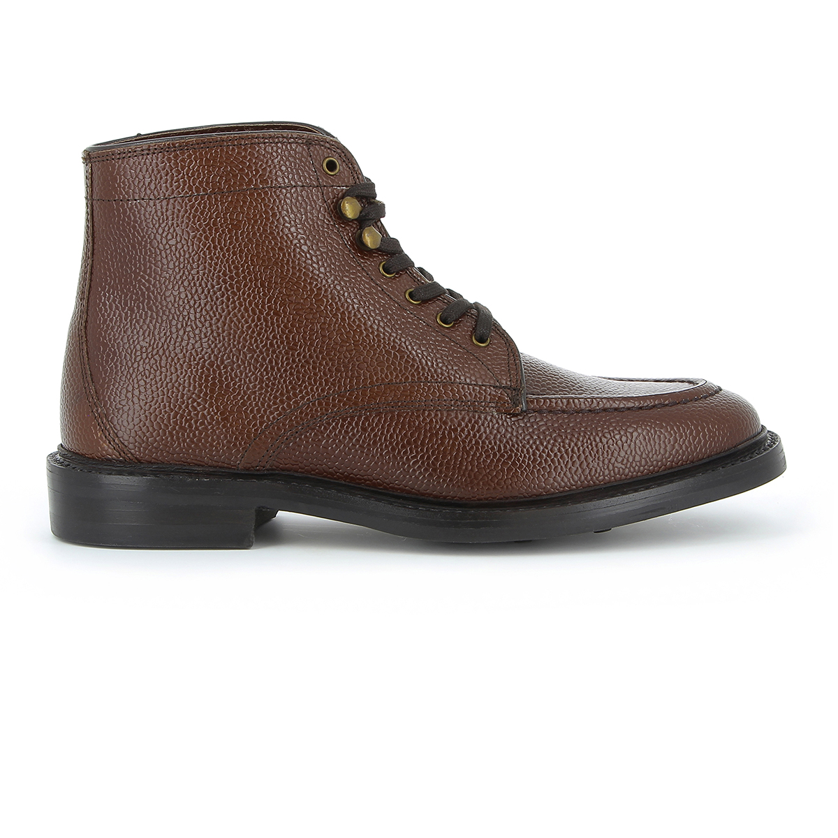 Monogram Apron Boot Mid Brown Grain Leather
